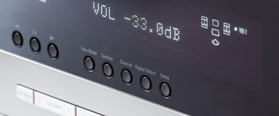 Yamaha Aventage Av Receiver Models Compared - Front Panel Display Of An Av Receiver