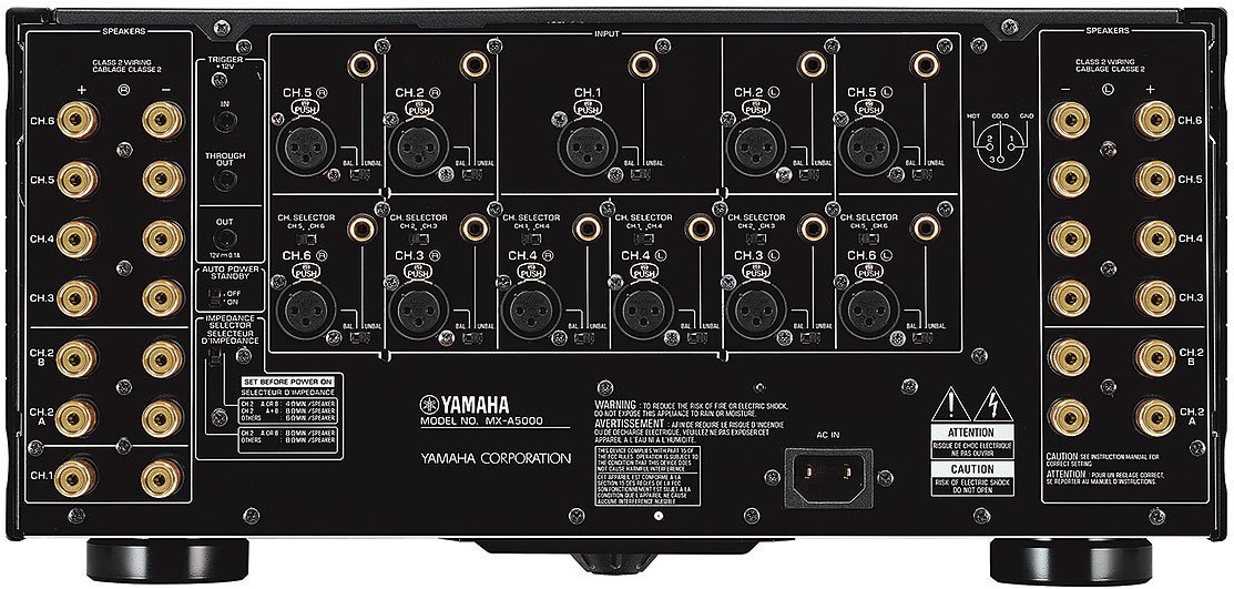 Yamaha Mx-A5000 Aventage 11-Ch Power Amplifier - Rear View