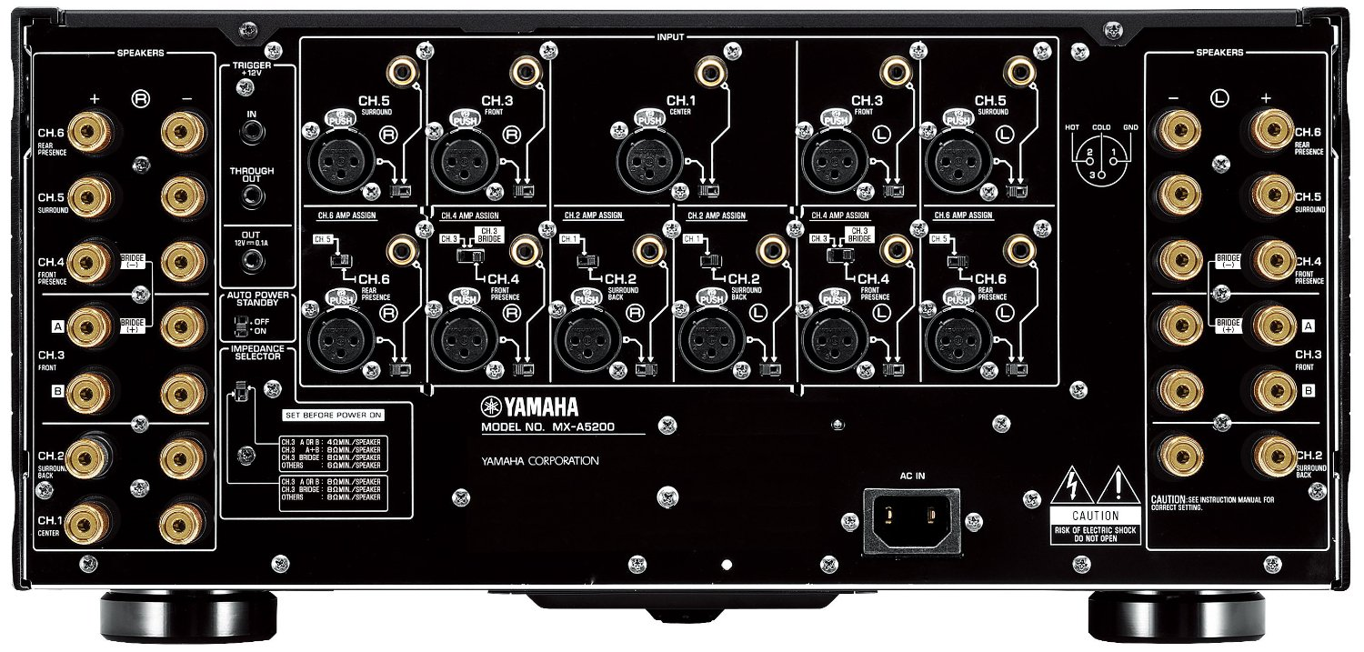 Yamaha Mx-A5200 Aventage 11-Ch Power Amplifier - Rear View