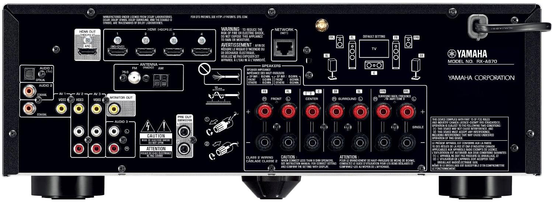 Yamaha Rx-A670 Aventage 7.2-Ch Av Receiver - Rear View