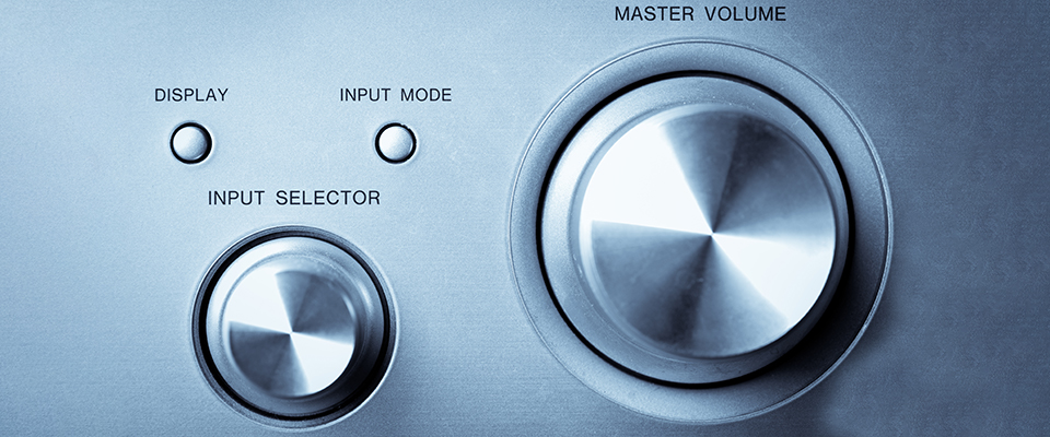 Yamaha Rx-V Series Av Receiver Product Range - Volume Control And Input Selector On An Amplifier