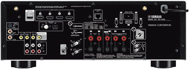 Yamaha Rx-V485 5.1-Ch Av Receiver - Rear View