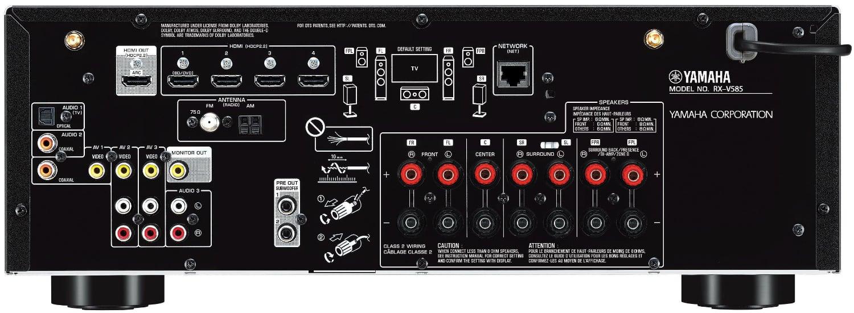 Yamaha Rx-V585 7.2-Ch Av Receiver - Rear View