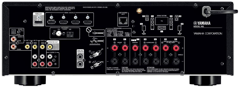 Yamaha Tsr-5830 7.2-Ch Av Receiver - Rear View