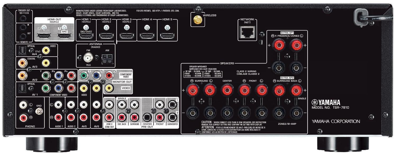 Yamaha Tsr-7810 7.2-Ch Av Receiver - Rear View