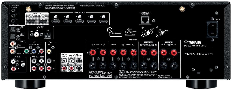 Yamaha Tsr-7850 7.2-Ch Av Receiver - Rear View