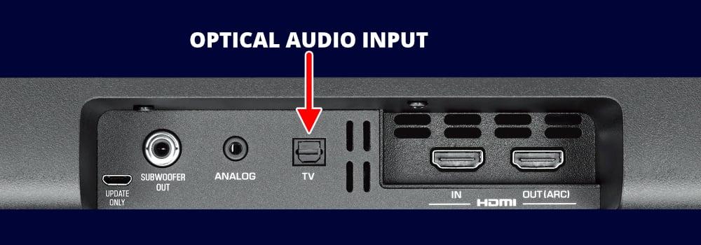 Yamaha Yas-107 Soundbar Optical Audio Input