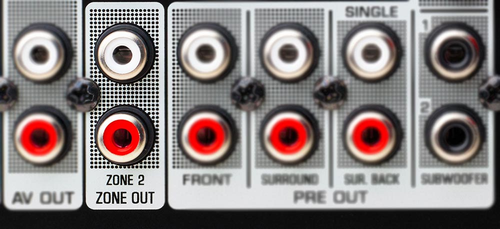 Zone 2 Line Out On The Rear Of An Av Receiver
